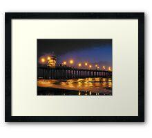 Surf City Lights II Framed Print