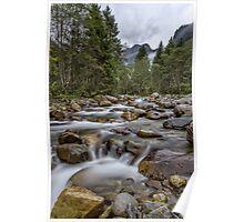 Austria: Hiking in the rain Poster