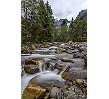 Austria: Hiking in the rain Photographic Print