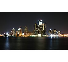 Detroit at night Photographic Print