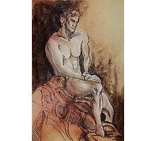 Renaissance Male Nude (Drawing)- Photographic Print