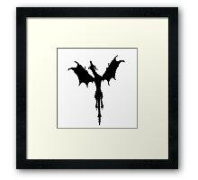 Skyrim dragon (Black) Framed Print