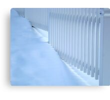White On White  ^ Canvas Print