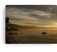 sunset in pv - puesta del sol in puerto vallarta Canvas Print