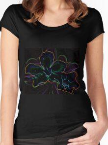 Flower Glow T-shirt Women's Fitted Scoop T-Shirt