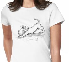 Downward dog Womens Fitted T-Shirt
