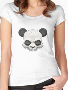 Skull Panda  Women's Fitted Scoop T-Shirt
