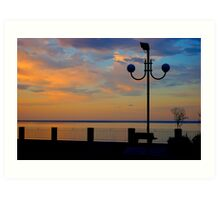 Sicily sunset Art Print