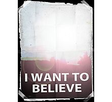 I want to believe light b Photographic Print