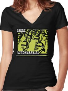 sing sing death house Women's Fitted V-Neck T-Shirt