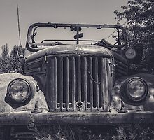 Tajik Jeep in Black and White by Kadwell