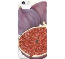 Figs String Art Painting Mixed Media Original Still Life Abstract of Botanical Fruit iPhone Case/Skin