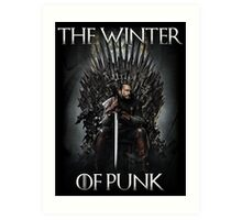 The Winter of Punk Art Print