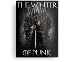 The Winter of Punk Metal Print
