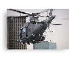 Navy Chopper Canvas Print