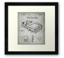 Game Boy Original Patent Framed Print