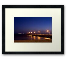 Moving into the Night Framed Print