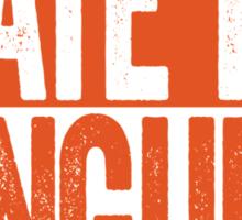 I Hate The Penguins - Philadelphia Flyers T-Shirt - Show Your Team Spirit - Orange Box Design - Haters Gonna Hate Sticker