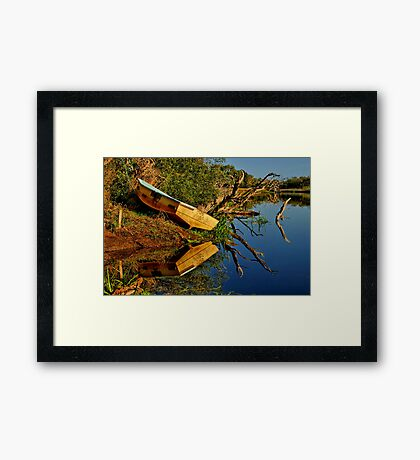 """Creekside Reflections"" Framed Print"
