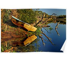 """Creekside Reflections"" Poster"