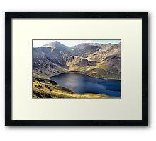 Llyn Llydaw / Snowdon Framed Print