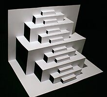 Paper Staircase by Donell Trostrud