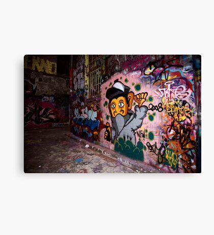 More Graffiti around Melbourne Canvas Print