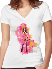 rag doll Women's Fitted V-Neck T-Shirt