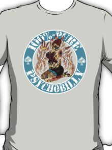 Psychobilly Girl - blue T-Shirt