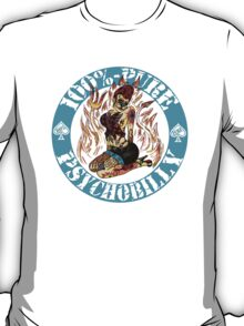 Psychobilly Girl - blue T-Shirt