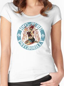 Psychobilly Girl - blue Women's Fitted Scoop T-Shirt