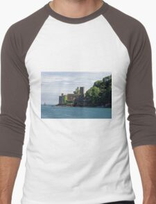 Dartmouth Castle, Devon, UK Men's Baseball ¾ T-Shirt