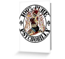 Psychobilly Girl - white Greeting Card