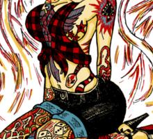 Psychobilly Girl - white Sticker