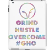 GRIND HUSTLE OVERCOME iPad Case/Skin
