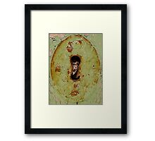 rusty key hole Framed Print