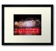 Perth WA Skyworks Australia Day 2015 - The Final Burst ! Framed Print