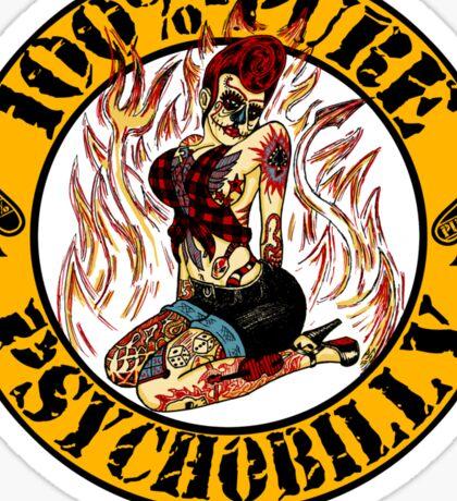 Psychobilly Girl - yellow Sticker