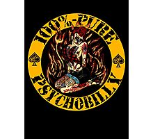 Psychobilly Girl - yellow Photographic Print