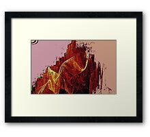Mountain Of Fire-Available As Art Prints-Mugs,Cases,Duvets,T Shirts,Stickers,etc Framed Print