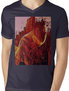 Mountain Of Fire-Available As Art Prints-Mugs,Cases,Duvets,T Shirts,Stickers,etc Mens V-Neck T-Shirt