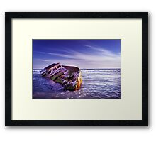 Wrecked. Framed Print