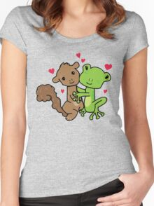 Frog and Squirrel Love Women's Fitted Scoop T-Shirt