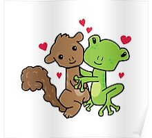 Frog and Squirrel Love Poster