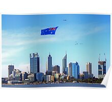 Flying The Flag - Perth WA - Australia Day 2015 - HDR Poster