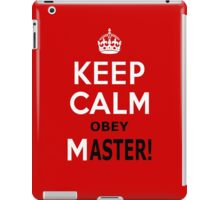 Keep Calm Obey Master iPad Case/Skin