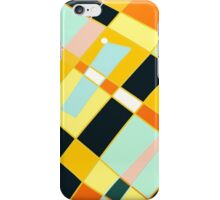 Abstract blocks, plaid pattern iPhone Case/Skin