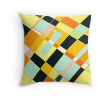 Abstract blocks, plaid pattern Throw Pillow