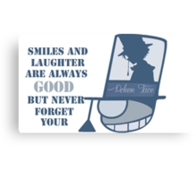 Never forget you poker face Canvas Print