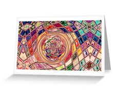 Stained Glass-Available As Art Prints-Mugs,Cases,Duvets,T Shirts,Stickers,etc Greeting Card